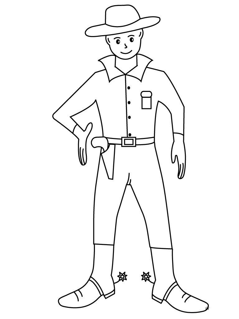 Printable Cowboy Coloring Pages