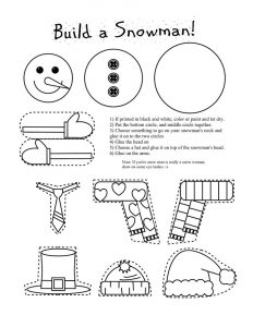 Printable crafts for kids snowman