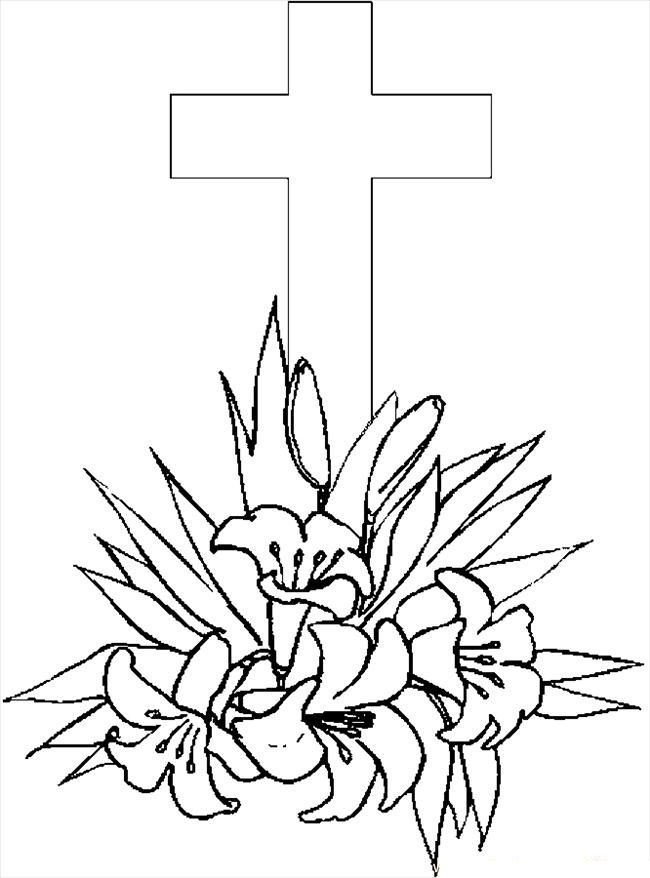 Printable Cross Coloring Page For Kids