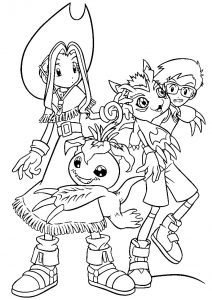 Printable digimon coloring pages for kids