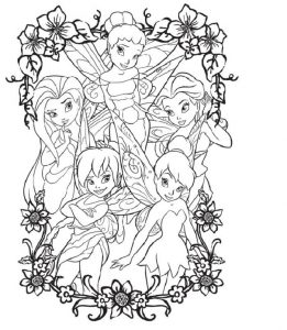 Printable disney fairies coloring pages