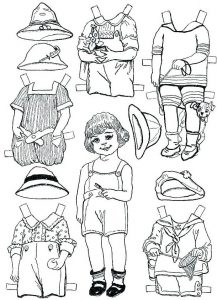 Printable dress up paper dolls