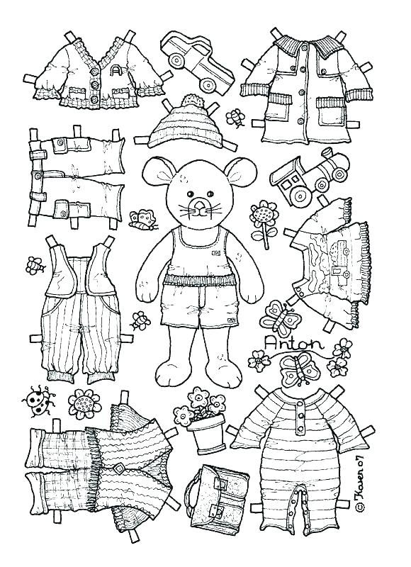 Printable Dressup Paper Doll Mouse