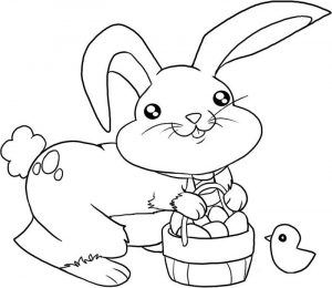 Printable easter basket coloring page