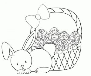 Printable easter basket coloring pages