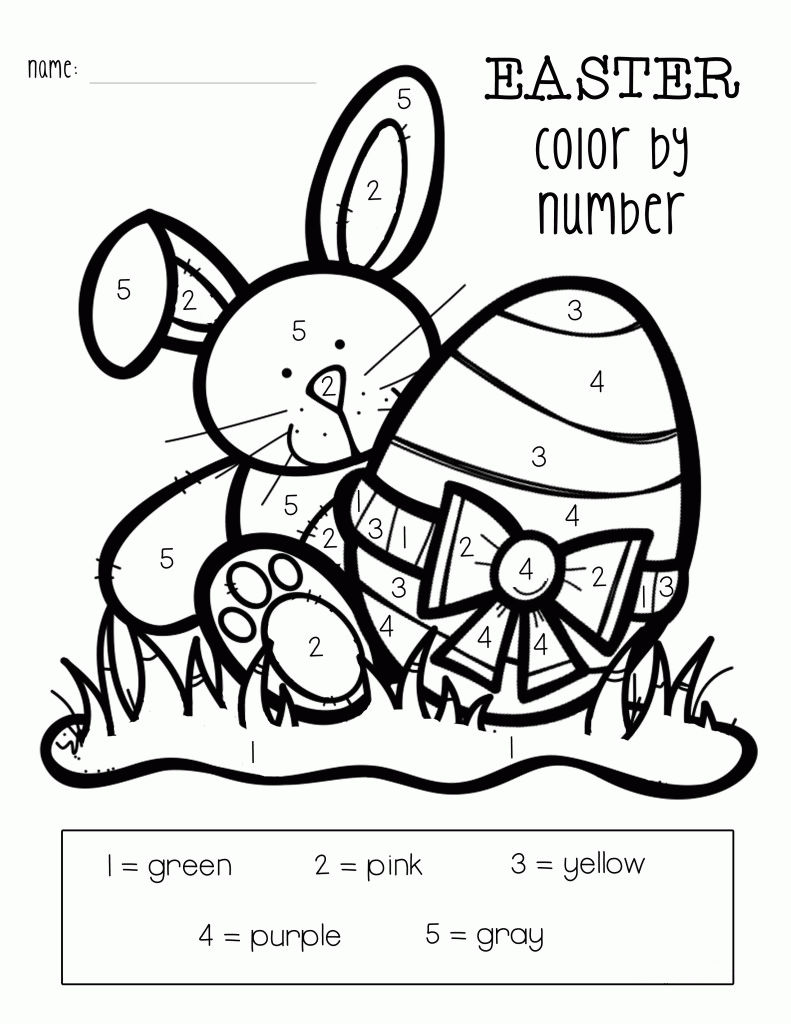 Printable Easter Color By Numbers