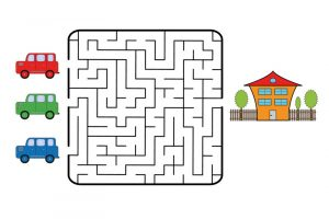 Printable easy mazes house