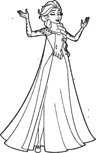 Printable elsa coloring pages