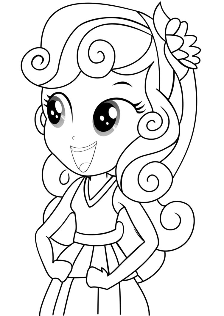 Printable Equestria Girls Coloring Page