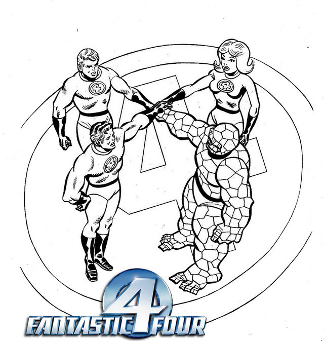 Printable Fantastic 4 Coloring Page 1