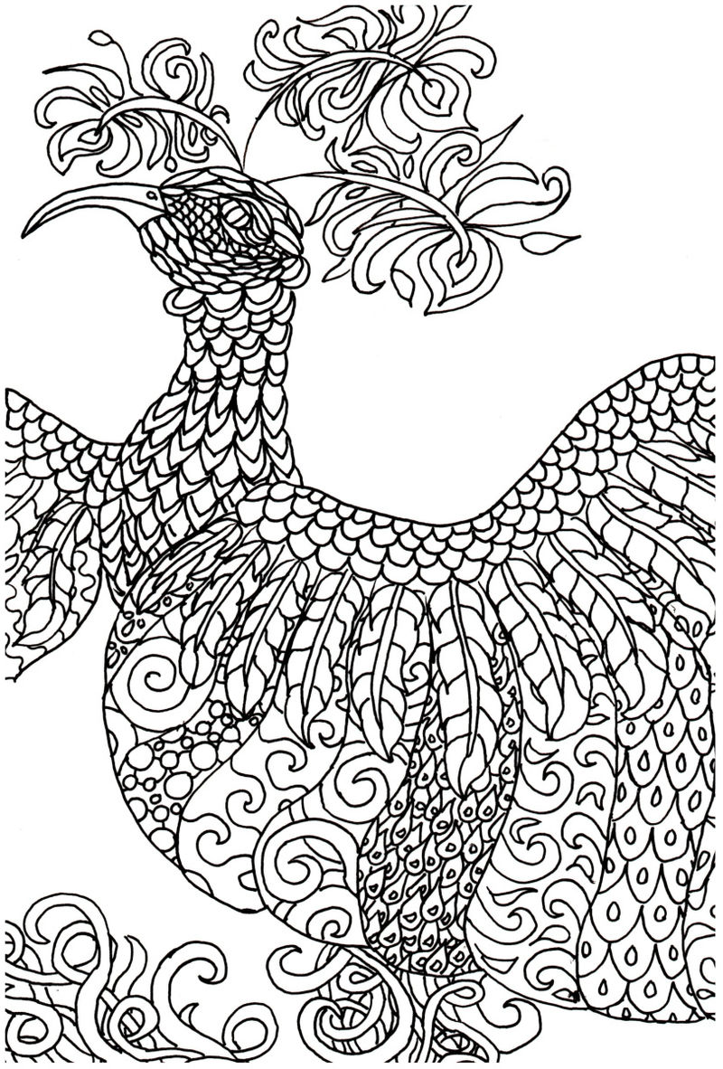 Printable Fantasy Coloring Pages 001