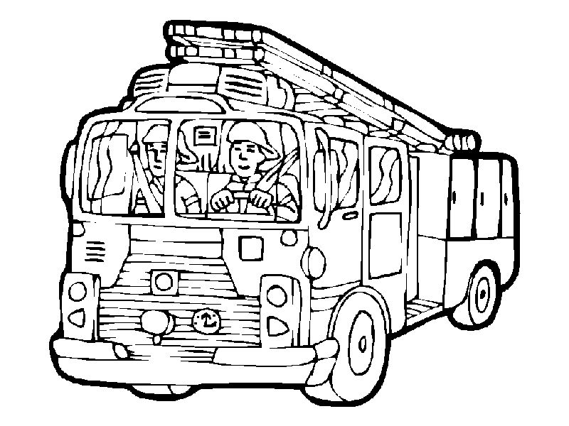 Printable Fire Truck Coloring Pages 001