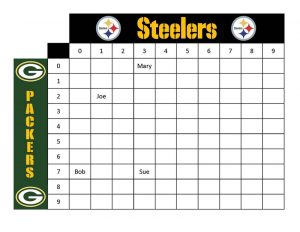 Printable football squares steelers vs packers