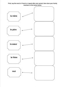 Printable french worksheets simple 001