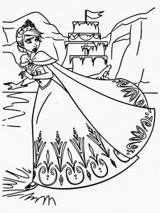 Printable frozen coloring page for free