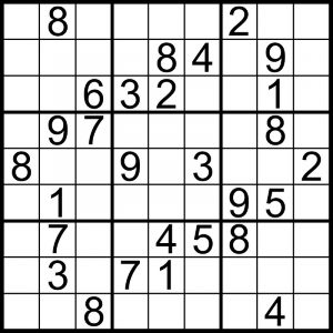 Printable games for adults sudoku