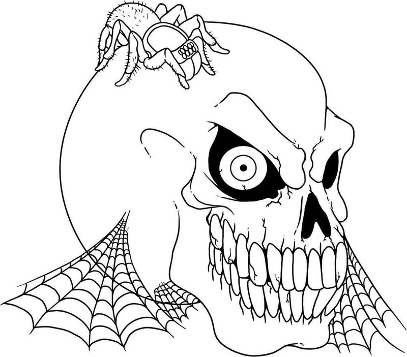 Printable Halloween Coloring Pages Scary Halloween 001