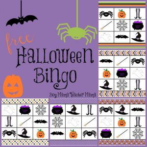 Printable halloween games bingo 001