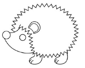 Printable hedgehog coloring and activity page