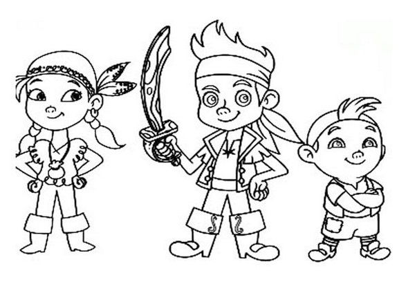 Printable Jake And The Neverland Pirates Coloring Books