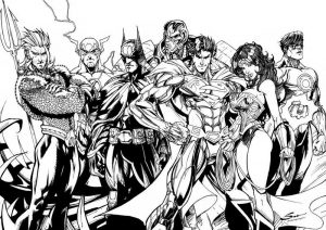 Printable justice league characters to color 001