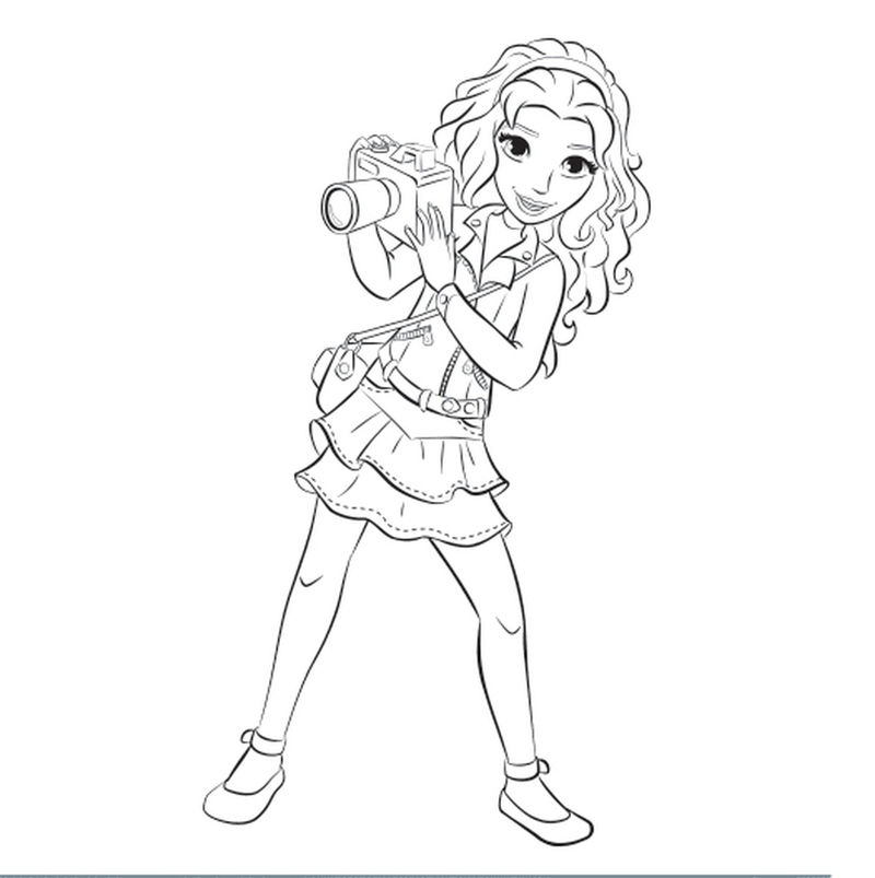 Printable Lego Friends Coloring Page