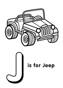 Printable letter j worksheets jeep 001