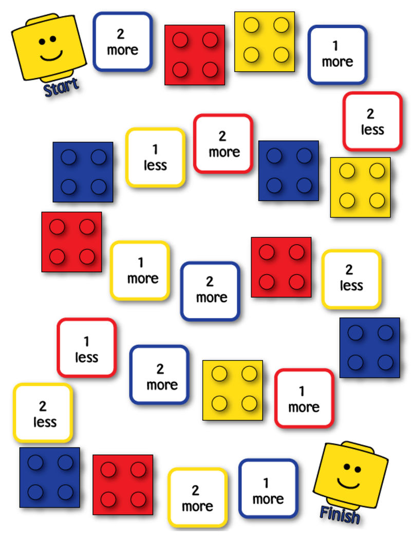 Printable Math Games Lego