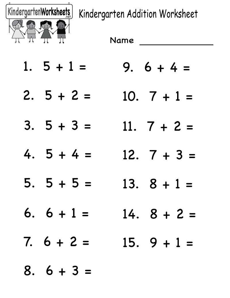 Printable Math Worksheets For Kindergarten Addition And Subtraction