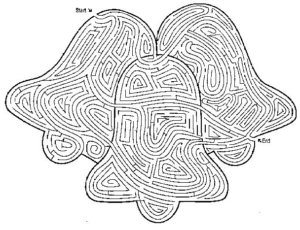 Printable Mazes For Adults Bell 001