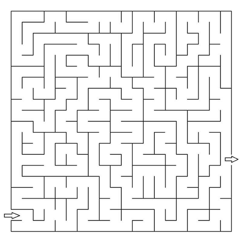 Printable Mazes For Adults Coloring Pages