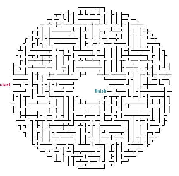 Printable Mazes For Adults 1