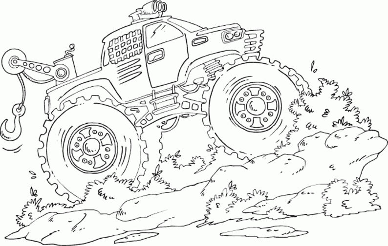 Printable Monster Truck Coloring Pages For Kids
