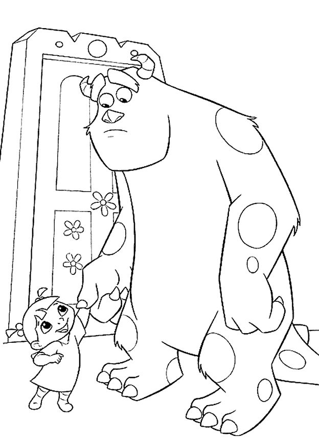 Printable Monsters Inc Coloring Pages 1