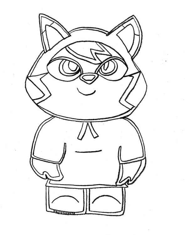 Printable Moshi Monster Coloring Pages 001
