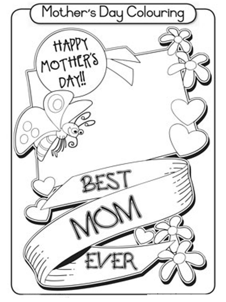 photograph relating to Mothers Day Coloring Pages Printable referred to as Printable Moms Working day Coloring Internet pages - Coloring Sheets