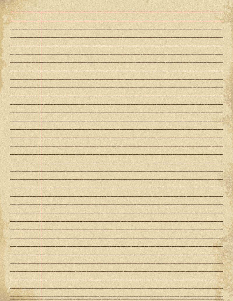 Printable Notebook Paper Blank