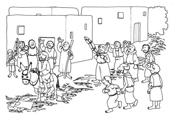 Printable Palm Sunday Coloring Pages