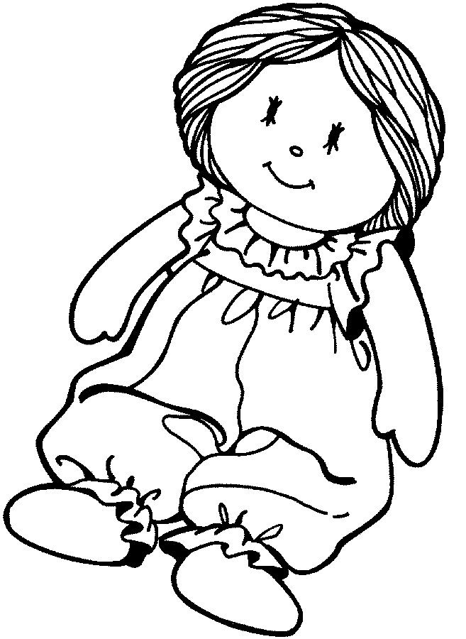 Printable Paper Doll Coloring Pages