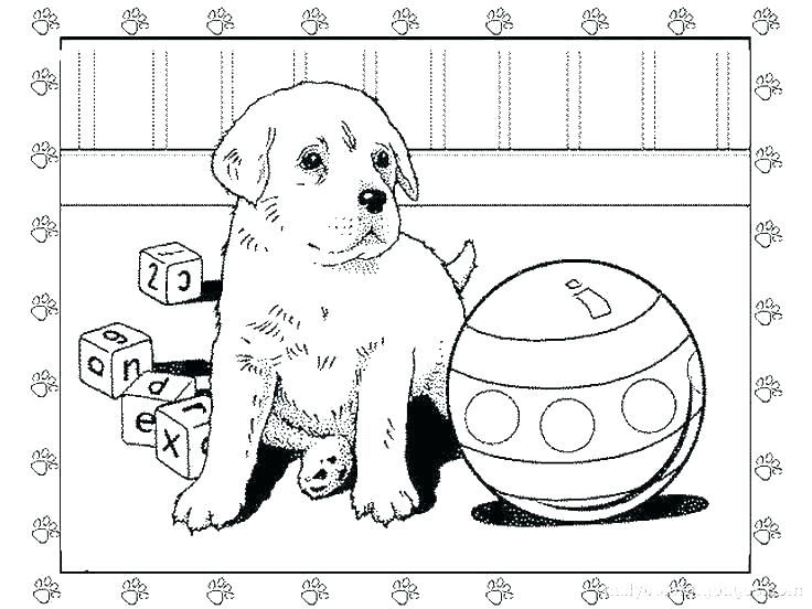 Printable Pet Dog Coloring Page