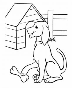 Printable pet dog coloring page 1