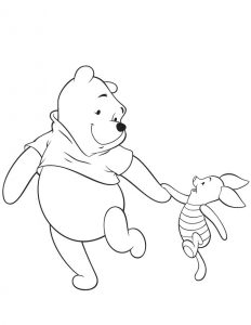 Printable piglet coloring pages