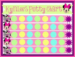 Printable potty chart pink color