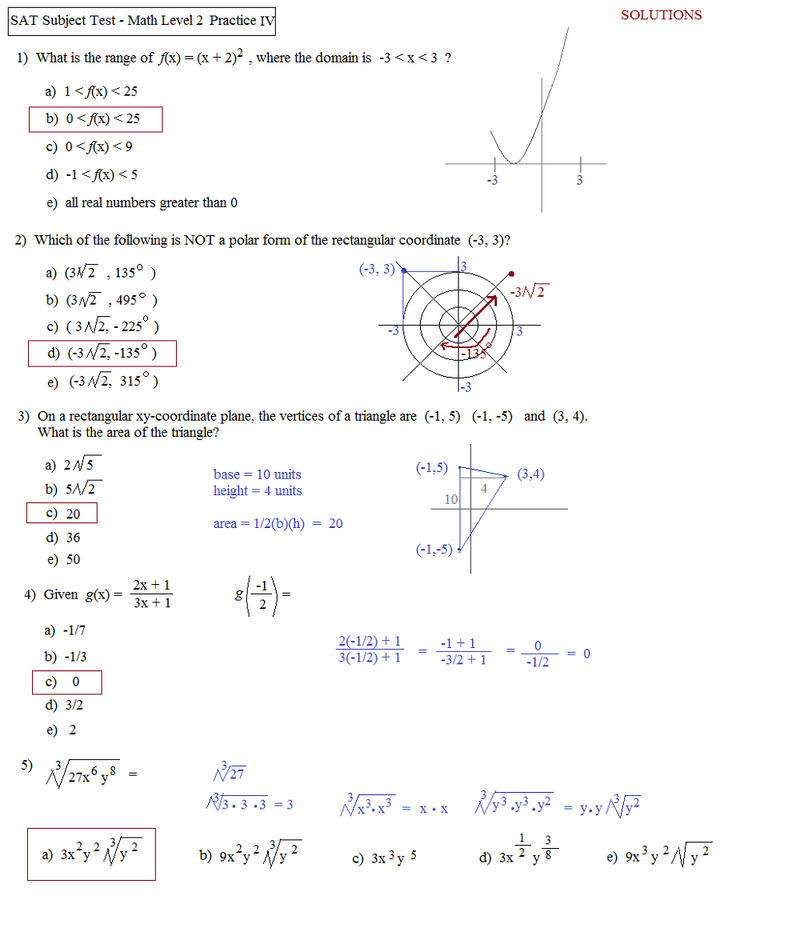 Printable Practice Math Problems And Answers