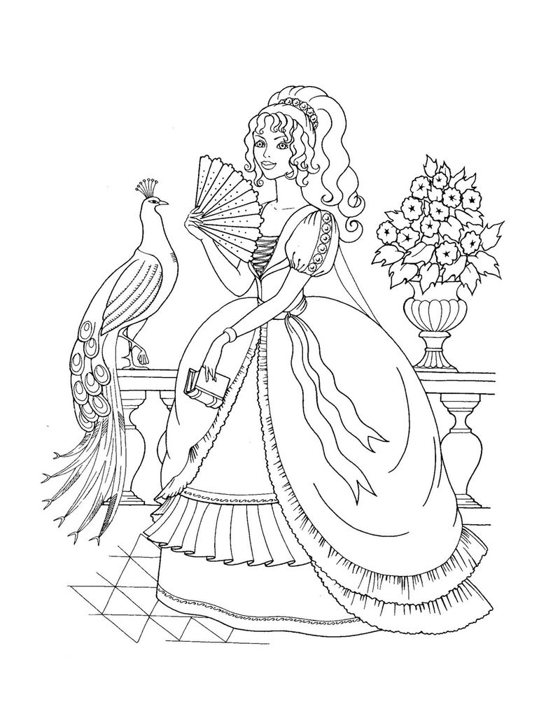 Printable Princess Coloring Pages 001