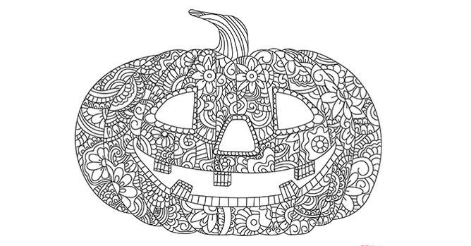 Printable Pumpkin Coloring Pages For Adults