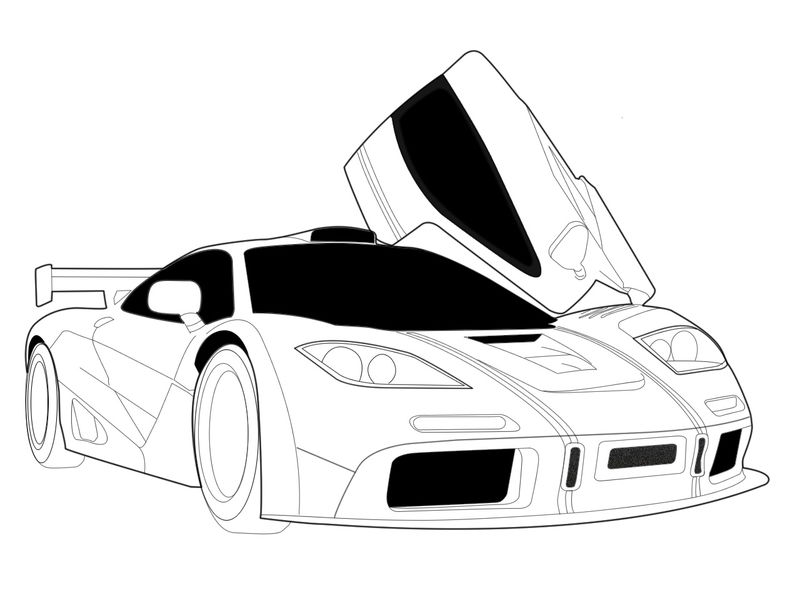 Printable Race Car Coloring Page