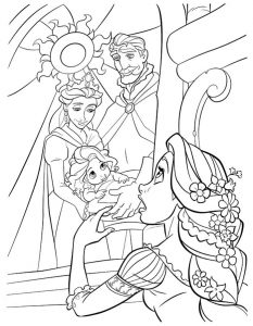 Printable rapunzel coloring page
