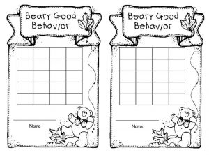 Printable reward charts black and white