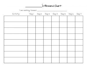 Printable reward charts blank template